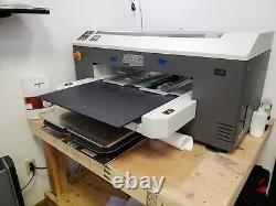 DTG M2 Direct to Garment printer with Spider mini pretreat machine