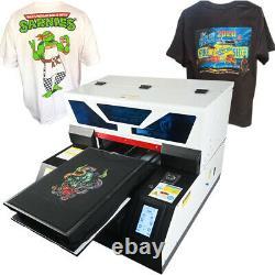 DTG Printer Direct To Garment Printer T-Shirt Textile A3 Flatbed Printer US
