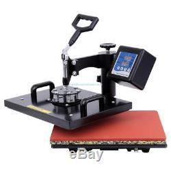 Digital 8 in 1 Transfer Heat Press Machine Sublimation T-Shirt Cap Swing-away