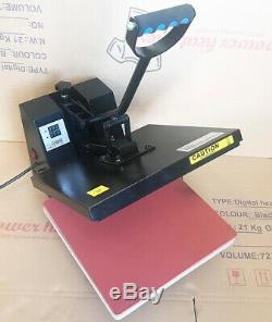 Digital Clamp shell T-Shirt Sublimation Heat Press Transfer Machine 15x15 DGREF
