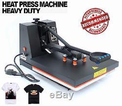 Digital Clamshell Heat Press Transfer T-Shirt Sublimation Machine 15 x 15 New US