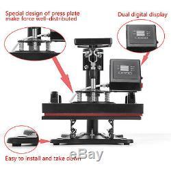 Digital Transfer Sublimation T-Shirt Heat Press Machine 12x10 Clamshell