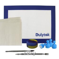 Dulytek Clamshell Rosin Press Dual Heat 3 x 5 Plates + Free Press Starter Kit