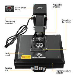 GOLDORO 15x15 Inch Heat Press Machine Digital Transfer Sublimation DIY T-Shirt