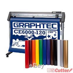 Graphtec 48 CE6000-120 Vinyl Cutter Plotter with Stand & BONUS 12-roll Vinyl Pack