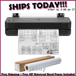 HP DesignJet T250 Large Format Compact Wireless Plotter Printer 24 (5HB06A)