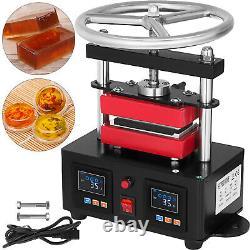 Hand Crank Rosin Press Machine Duel Heated Plates Heat Transfer 2.4X4.7 900W