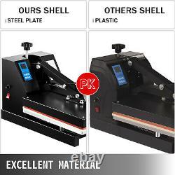 Heat Press 15X15 Clamshell Sublimation Transfer Machine T-Shirt 1400W DIY
