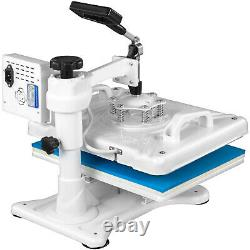 Heat Press 5 In 1 Heat Press 12 X 15 Inch White Heat Press Machine for Hat Shoes