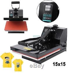 Heat Press Transfer Digital 15x15 Clamshell Sublimation Machine T-shirt 15x15