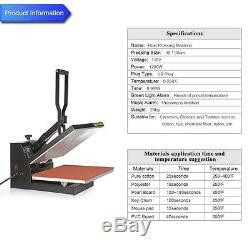 Heat Press Transfer Digital Clamshell 15 x 15 T-Shirt Sublimation Machine Tool
