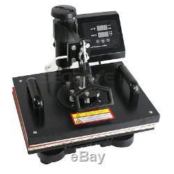 Hot 6in1 Digital Transfer Heat Press Machine Sublimation T-Shirt Mug Hat Plate