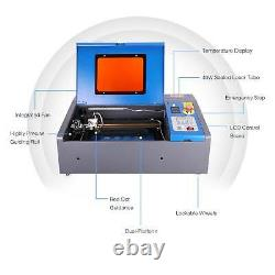 K40 40W CO2 Engraver Cutter 12 × 8 Laser Engraving Machine Red Dot Guidance