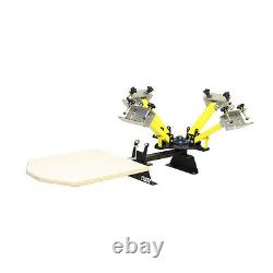 Kicker 4 Color 1 Screen Printing Press Machine WITH HAND MICRO REGISTRATION
