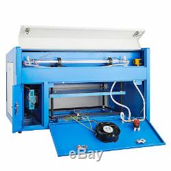 Laser Engraving Machine 50W CO2 Engraver Cutter Auxiliary Rotary Device USB Port