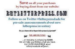 Letterpress Hobbyist's Starter's Kit C & P pilot kelsey