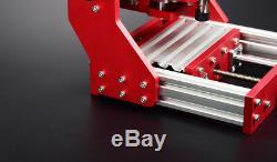 Mini DIY CNC 1208 Mill Router Kit USB Desktop Metal Engraver PCB Milling Machine