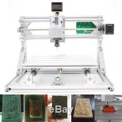 Mini DIY CNC 2418 with ER11 Router Kit Wood Carving Engraving PCB Milling Machine