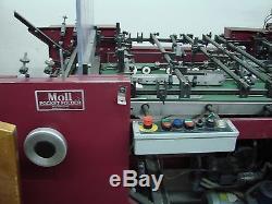 Moll Marathon Pocket folder/gluer with final fold and Glu-Bind cold glue system