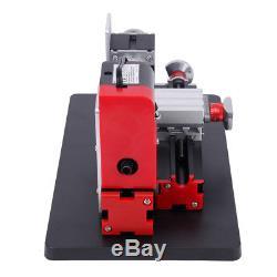 Motorized Mini Metal Lathe Machine Model Turning Making Woodworking DIY Tool