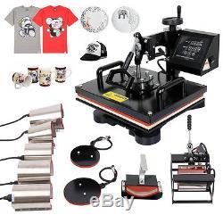 Multifunctional 10 in 1 Heat Press Heater Transfer Machine T-Shirt Cap Mug Plate