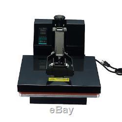 New 15x15 Digital Clamshell Heat Press Machine Transfer Sublimation T-shirt JB