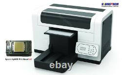 New DTG T-Shirt Printer Fabric Garment 35cmx45cm Dual Epson xp600+Ink+RIP, CMYK+W