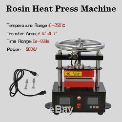 New Professional Rosin Press Hand Crank Duel Heated Plates 2.4 x 4.7