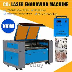 OMTech 35x24 100W CO2 laser Engraving Cutting Carving Engraver Cutter Ruida
