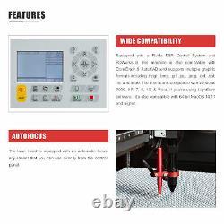Preenex CO2 150W Laser Engraver Cutter 63x40in Bed Autofocus Water Chiller Ruida
