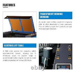 Preenex Upgraded 80W 35×24 CO2 Laser Engraver Cutter Ruida Motorized Workbed