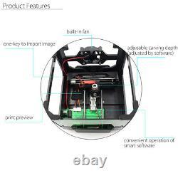 Real 3000mW USB Laser Engraver DIY Mark Printer Carver CNC Engraving Machine US