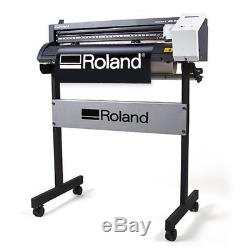 Roland CAMM-1 GS 24 Vinyl Cutter Plotter for Decals Heat Transfer Press Kit