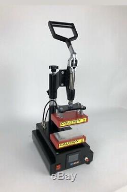 Rosin Heat Press Machine Dual Heating Elements Swing-Arm High Pressure