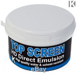 Screen Printing Kit with Frame Hinge clamps Ink Squeegee Emulsion Exposure etc
