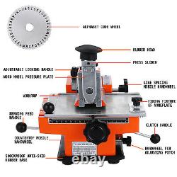 Semi-Auto Stamping Embossing Machine 4mm Metal MarkingTag Plate Dog Tag Printer