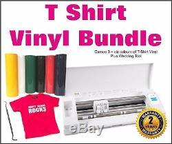 Silhouette Cameo 3. Vinyl Cutting Machine, T-Shirt Vinyl Bundle, Sign Making
