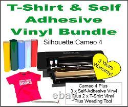 Silhouette Cameo 4 Cutter. UK Supplier, 3 Years Warranty. UK Plug. FREE VINYL