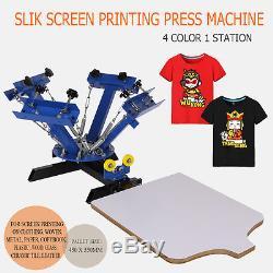 Silk 4 Color 1 Station DIY Screen Printing Press Machine Kit Screening Pressing