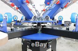 Silk Screen Printing 4 Color Printer Press shirt Micro-adjust Rotatable Machine
