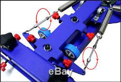 Silk Screen Printing Press 4 Color 2 Station & Full Set Materials Kit