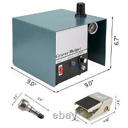 Single Ended Pneumatic Engraver 1400rpm Jewelry Pneumatic Impact Engraver US