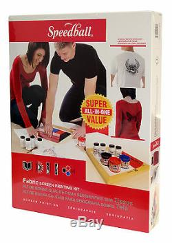 Speedball Fabric Screen Printing Super Value Kit with screen frame