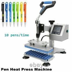 Sublimation 10pc/time Pen Heat Transfer Machine Pen Heat Press Machine 110V