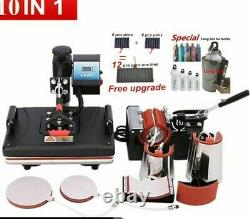 Sublimation Heat Press Machines Transfer Printer For Business Tool 10 In 1 Tools