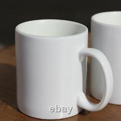 Sublimation Mugs 11oz 72 Large Handle Plain Mug Heat Press White Ceramic Coated