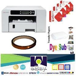 Sublimation Printer SG400 + HD Ink Set CMYK + + 1 SubliTape + 100 Sh SubliPaper