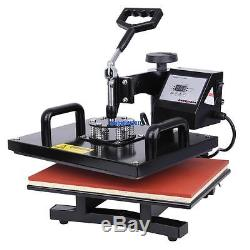 T-Shirt 15x12 Digital Heat Press Machine DIY Gift Photo Sublimation Swing-away