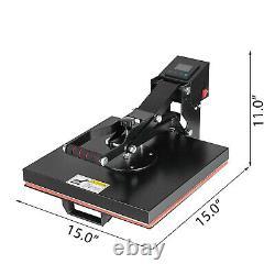 TEFLON 15X15 CLAMSHELL HEAT PRESS MACHINE T-SHIRT Digital TRANSFER SUBLIMATION