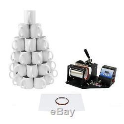 Tassenpresse Hitzepresse Transferpresse 72 Tassen mit unbedruckten Boxen im Set